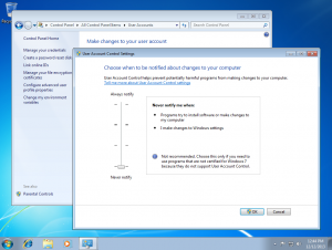 Win 7 Disable UAC