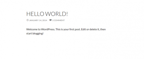 Wordpress first post 2014